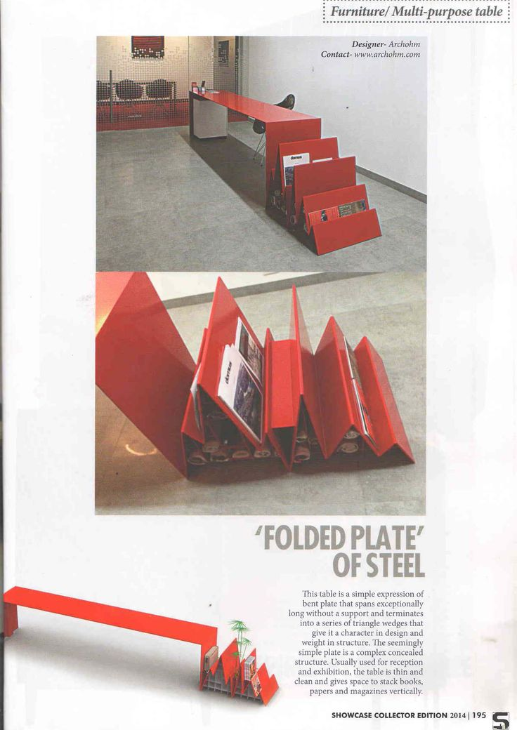 The Graph.ao designed by Archohm gets featured in the Collectors Edition of Surfaces Reporter magazine, July 2014 issue. The table can be used for reception and exhibition to give space to stack books, papers and magazines vertically.