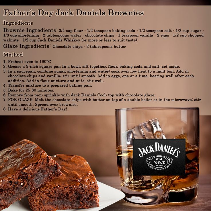 Treat your dad this fathers day with these delicious Jack Daniels Chocolate Brownies #fathersday #yum