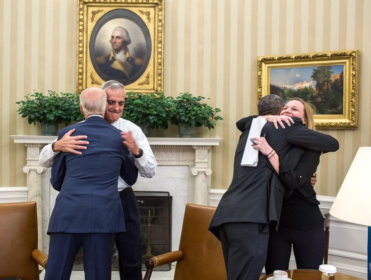 Hugs in the Oval after today's Supreme Court ruling on ACA