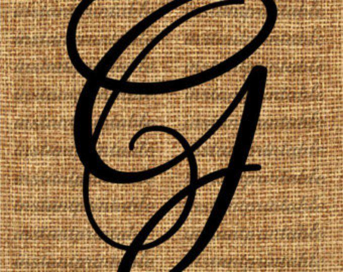 Monogram, eerste Letter G, illustraties van de brief, brief Decal, downloaden brieven, brief downloaden, afdrukbare brief, kalligrafie--punt geen 73