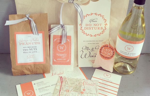 Tie That Binds: Guest Welcome Bags : Wedding Welcome Bags