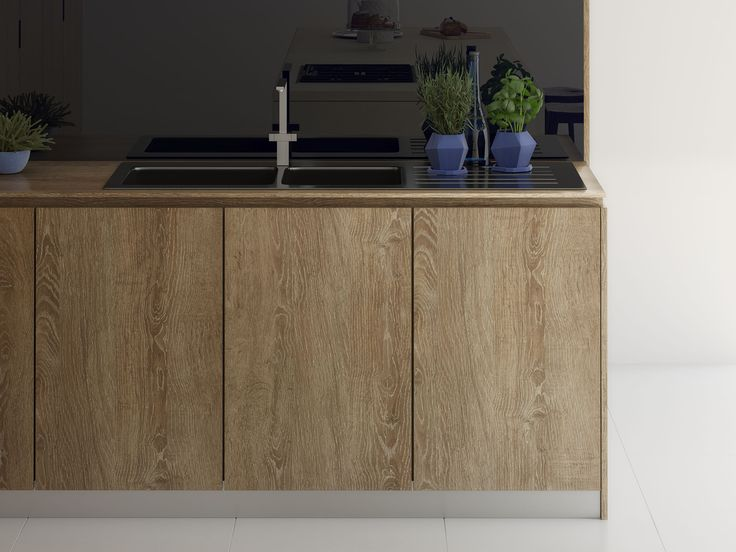 Pin 1: Laminex in Rural Oak, laminex offers great qualities. It can portray real authentic wood but is actually a synthetic.