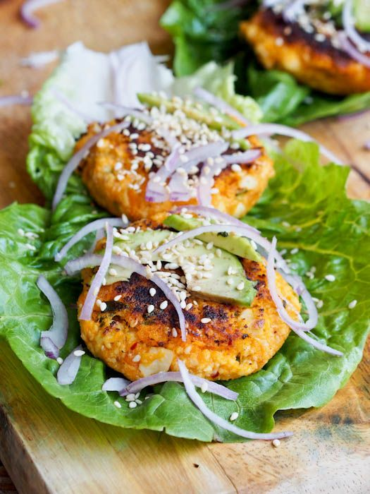 Vegan-Sweet-Potato-Tofu-Burgers-Recipe ( i did not use sesame seeds, and used only 3 tsp of breadcrumbs)