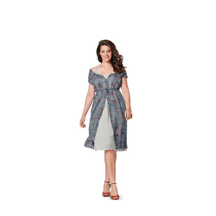 Jurk / blouse met elastiek, Burda 6950 - Burda-Naaipatronen – Top, Blouse & Overhemd - Burda-Naaipatronen – Jurk & Rok - Burda-Naaipatronen – Plus Size - stoffen.net