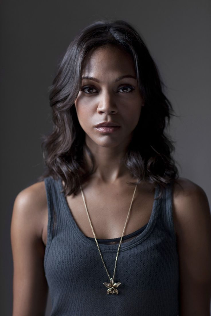 Zoe Saldana. I'd like my hair this length and trying to figure out how to easily achieve these curls.