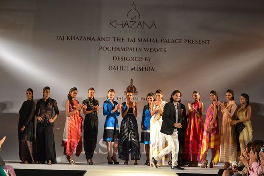Pochampally weaves, Rahul Mishra  fashion show at Taj Palace Hotel