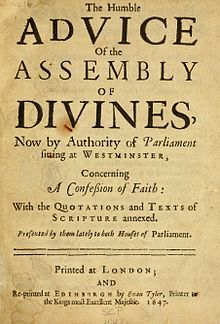Westminster Confession of Faith - Wikipedia, the free encyclopedia