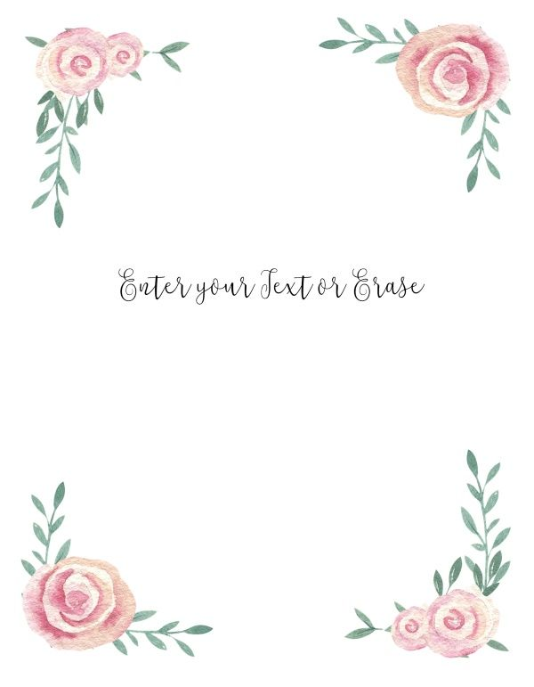 Free Printable Watercolor Flower Borders And Backgrounds Free