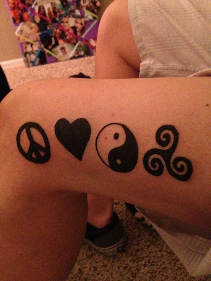 PLUR (Peace Love Unity Respect) EDM Tattoo