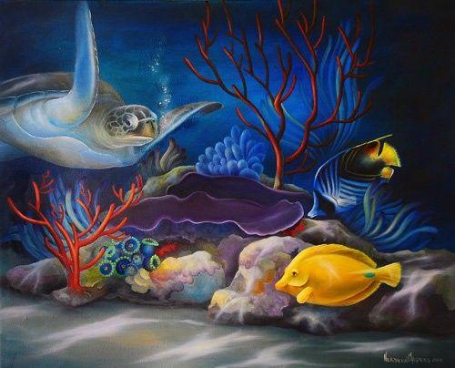 Art Apprentice Online - Acrylic - Marine Life -Turtle Tag - Online Art Class - with Instructor Neadeen Masters, CDA, $75.00 (http://store.artapprenticeonline.com/acrylic-marine-life-turtle-tag-online-art-class-with-instructor-neadeen-masters-cda/)
