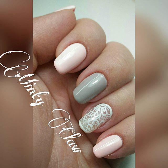 #paznokcie #nails #manicure #instanails #mintyclaw #indigo #naturalnails #hybridnails #hybrydy #lacenails #pinknails #greynails #whitenails #lace @indigonails
