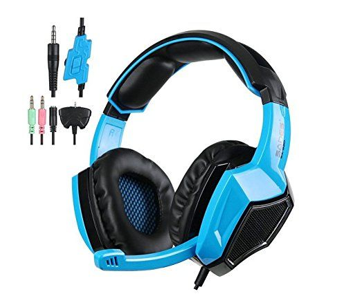 Emorefun Joe 5 in 1 Stereo Gaming Headset Over-ear Headphones with Microphone for PS4/Xbox360/PC/Tablet/Cellphone