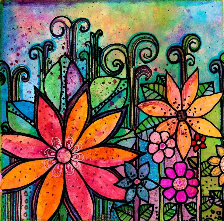 Flowers print art garden inspiration quote
