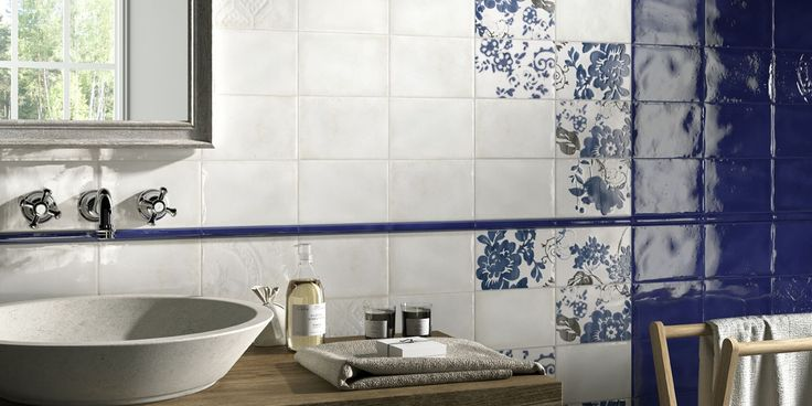 IMOLA 1874 Tiles, bathroom country-style ceramic double-fired wall tile [AM IMOLA 1874 4]