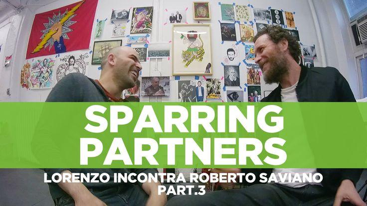 """#RobertoSaviano e #LorenzoJovanotti - #SparringPartners 3° Parte """" 'Sparring partners' è il nome che abbiamo dato alla nostra chiacchierata, nata per caso e ripresa da una telecamerina. Come un allenamento tra pugili""""."""