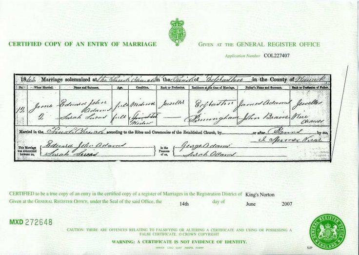 33 mejores imágenes de Genealogy - UK Civil Registration en ...