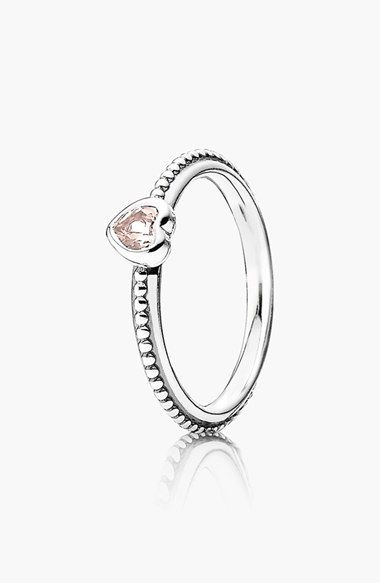 PANDORA One Love Heart Stone Ring available at #Nordstrom ✌▄▄▄>>>>>>Pandora Jewelry 80% OFF! $10~$200 >>>Visit>> http://pandoraonsale.site/ ✌▄▄▄