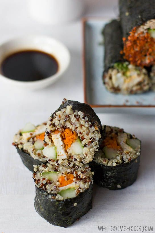 Quinoa Sushi Rolls plus 5 Other Quinoa Recipes | Recipe | Vegetables ...