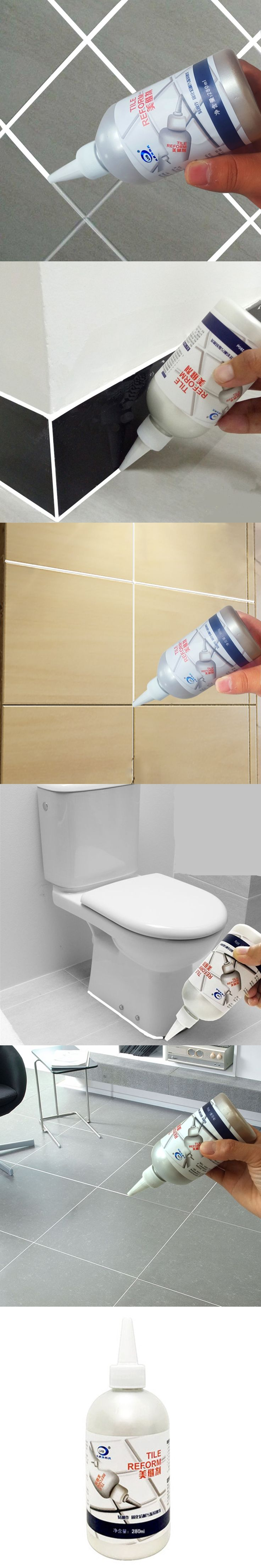 Best 25 waterproof grout ideas on pinterest cheap mosaic tiles genuine floor tiles epoxy grouts beautiful sealant 280ml white caulking agent for waterproof wall toilet gap dailygadgetfo Gallery