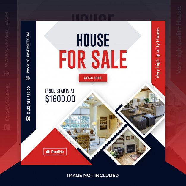 Real Estate Square Banner Template Real Estate Banner Banner Template Social Media Design Inspiration