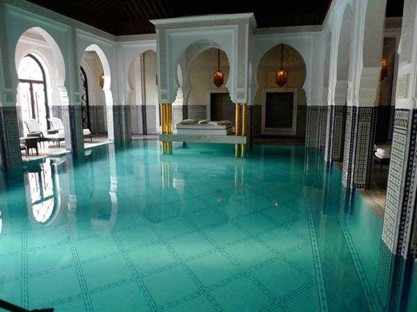 hotel la mamounia marrakesh the indoor swimming pool from jeffrey bales world of gardens