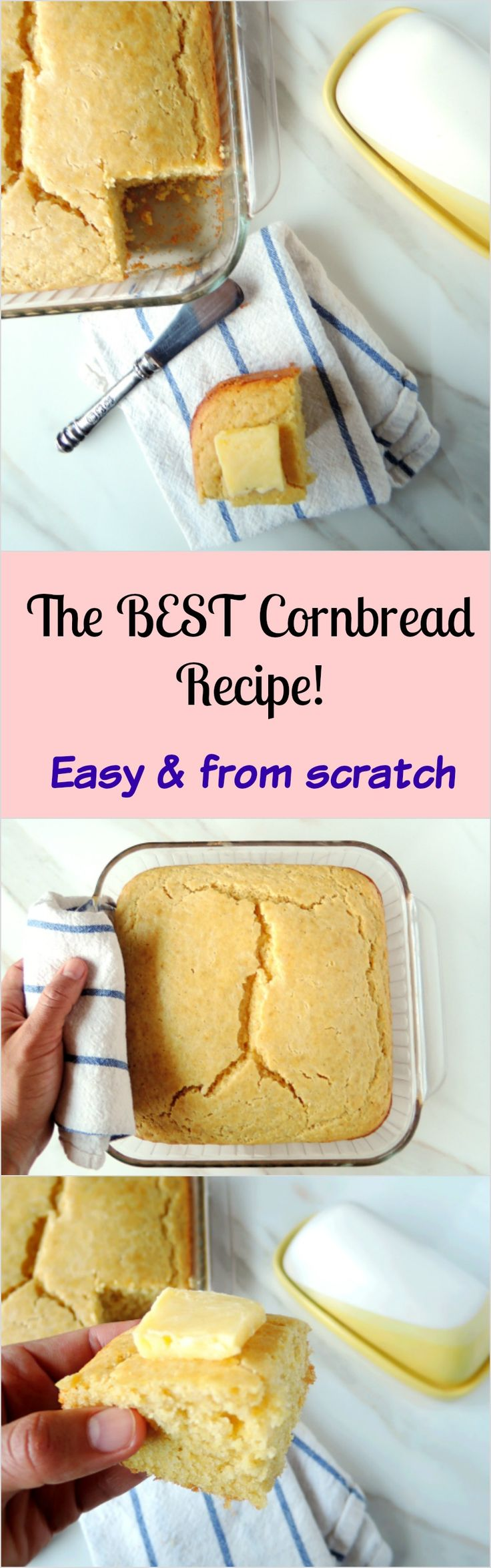 The best and only cornbread recipe you will ever need! So simple, moist and from scratch!