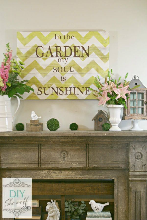 How to make a distressed chevron sign. Perfect tutorial