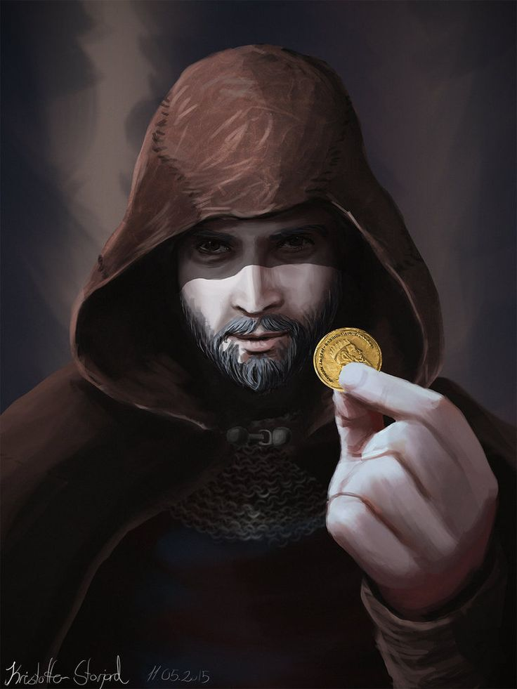 Take the Coin - Fantasy Character Portrait by Reverist