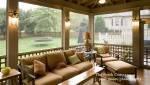 Enclosed Patio/Sunroom with window seatBackyards