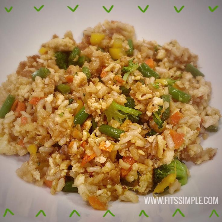 Check out this healthy version of fried rice which just happens to be 21 Day Fix approved.