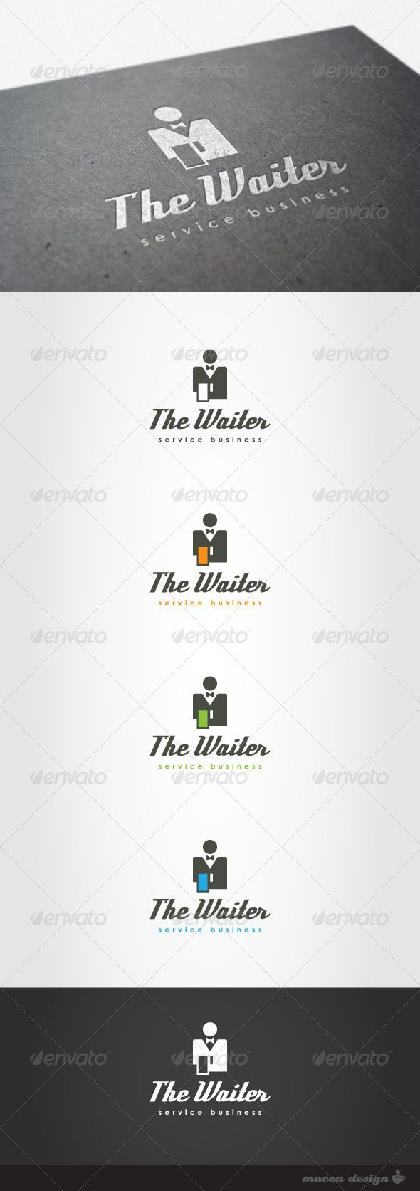 The Waiter Logo #GraphicRiver The Waiter is a clean, professional and elegant logo suitable for a high quality