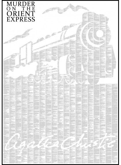 Murder on the Orient Express - Book Poster - http://spinelessclassics.com.au/Murder-On-The-Orient-Express-Book-Poster