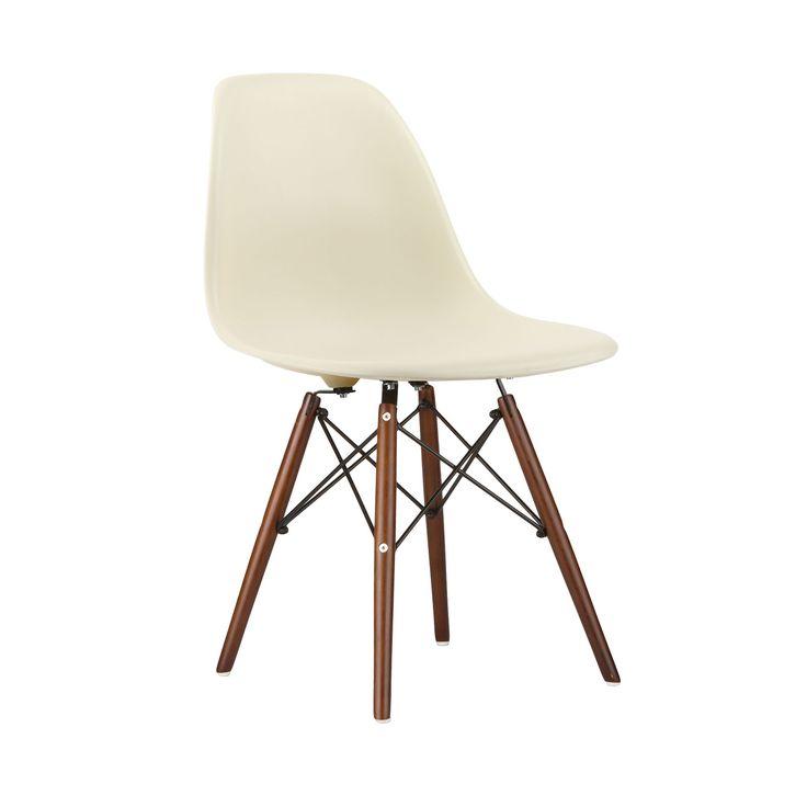 Walnut Slope Chair in Cream | dotandbo.com