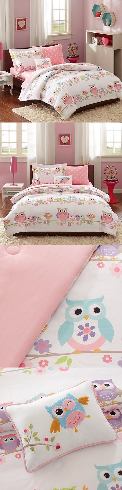 Comforters and Sets 66728: Owl Bedding Set Girls Pink Twin Bed Sheet Comforter 6 Piece Bag Fitted Flat New -> BUY IT NOW ONLY: $90.88 on eBay!
