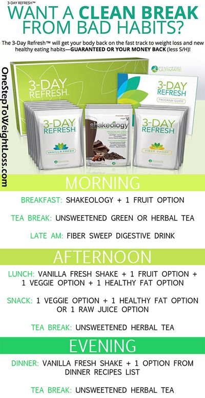 For some 3 Day Refresh results? Like weight loss, more energy, improved digestion and more? Check this out: http://www.beachbodycoach.com/shauna78