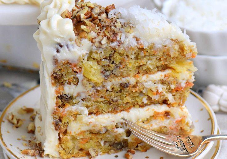 Les amateurs de gâteaux aux carottes qui sont aussi des amateurs de gâteaux à l'ananas vont ADORER ce fabuleux gâteau...