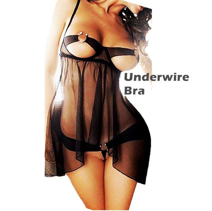 Sexy-Lingerie-Sleepwear-Lace-Women's-G-string-Dress-Underwear-Babydoll-Nightwear #Daisland #BabydollChemise #Everyday