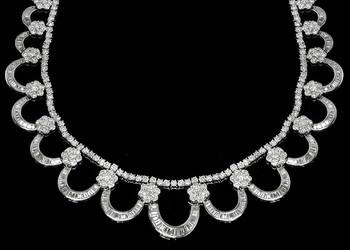 40.38ct Diamond 18k White Gold Necklace