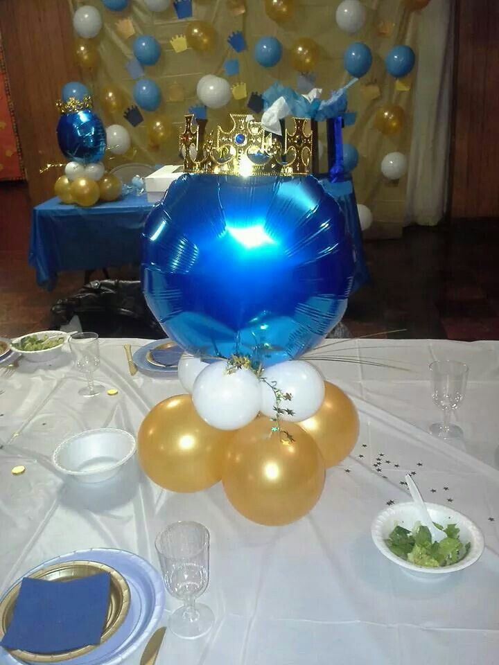 Crown balloon backdrop royal baby shower
