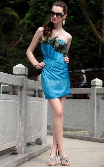 Robe De Gala bustier bleu Robe De Gala courtes