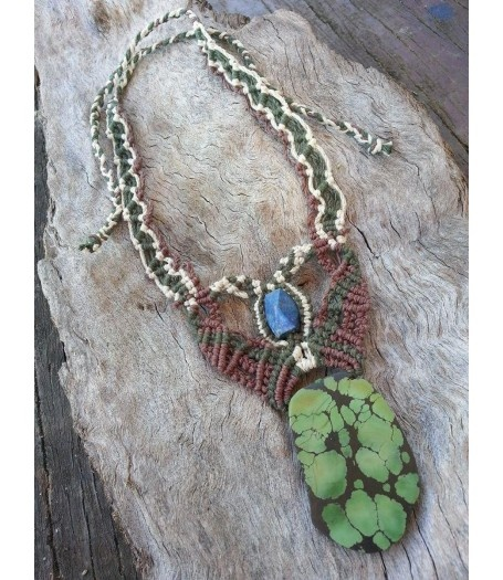 Green Turquoise Necklace by ZenIssa Creations