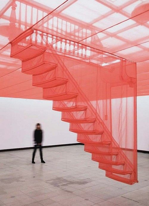 red- Just saw this at the Tate. It was very interesting use of space