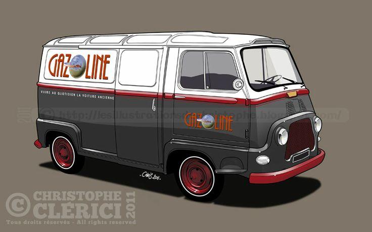Les illustrations de christophe: Article dans Gazoline Renault Estafette