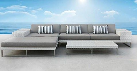 Outdoor Patio Wicker Furniture Sofa Sectional 3pc Resin Couch Set - Outdoor Patio Furniture Sofa