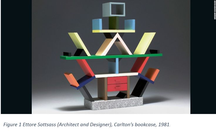 Figure 1 Ettore Sottsass (Architect and Designer), Carlton's bookcase, 1981.