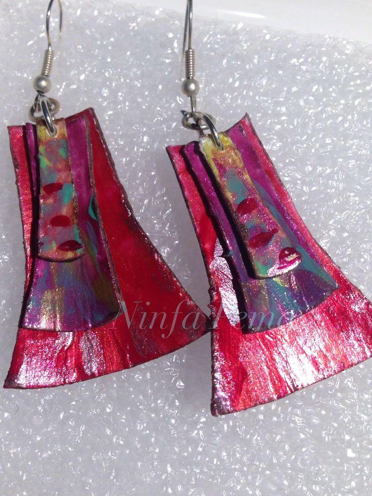 Paper earring by Ninfa Pema.
