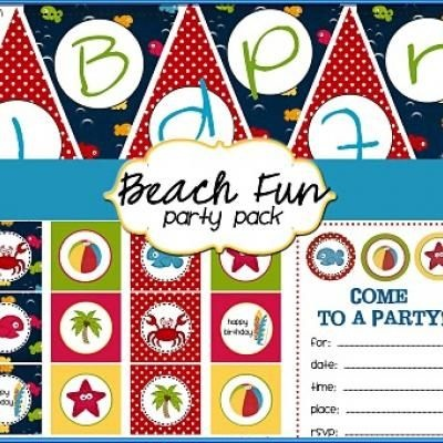 Free Beach Themed Party Printables + other really cute printables