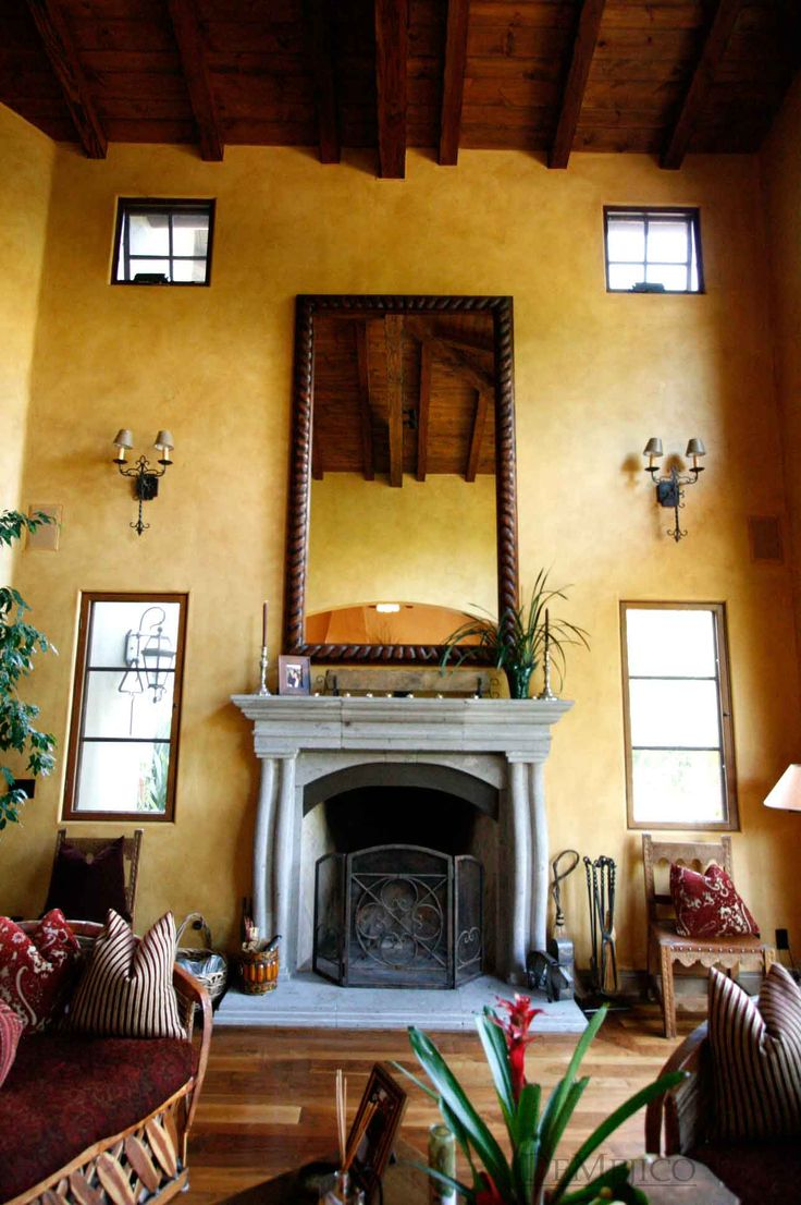 Hacienda Living Room Mexico Style Maybe Just The One Two Story