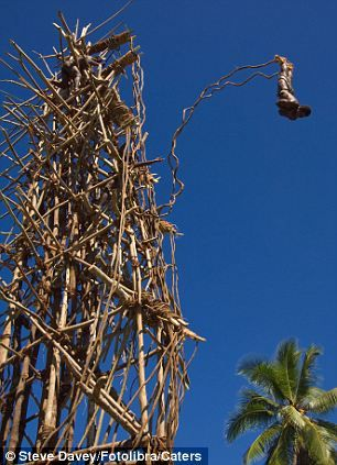 Head for heights: Tribal daredevils are just inches from death during bizarre…