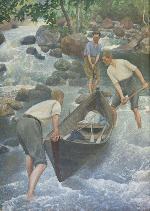 Pekka Halonen (Finnish, 1865-1933), Kesäurheilua [Summer sports], 1922. Oil on canvas. Rauman taidemuseo, Rauman.